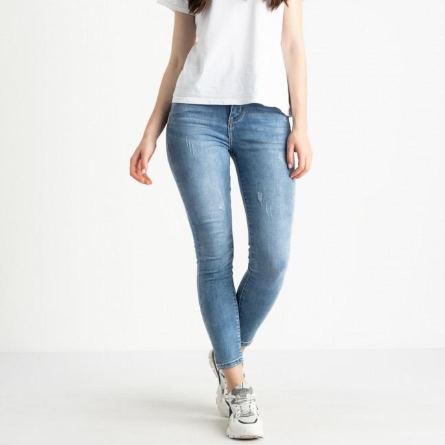 0690 New Jeans американка полубатальная голубая стрейчевая (6 ед. размеры: 28.29.30.31.32.33) New Jeans: артикул 1121478