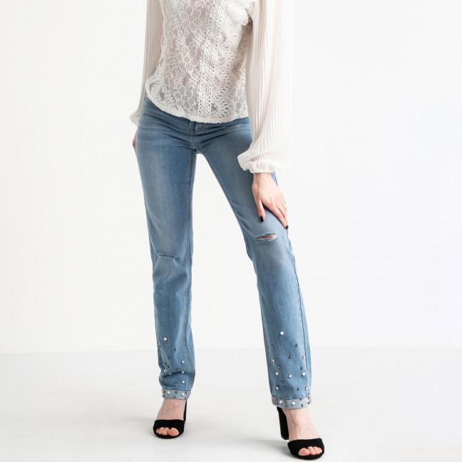 0059 Jushioumfiva джинсы женские голубые котоновые ( 6 ед. размеры: 25.26.27.28.29.30) Jushioumfiva: артикул 1118820