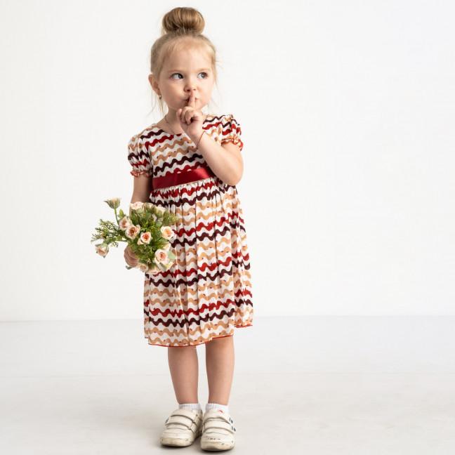 0007-3 платье цветное хлопковое на девочку 1-4 года (3 ед. размеры: 80.92.104) Маленьке сонечко: артикул 1121805