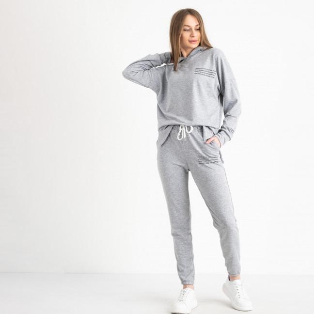 15115-2 серый женский спортивный костюм из двунитки (4 ед. размеры: S.M.L.XL) Спортивный костюм: артикул 1120814