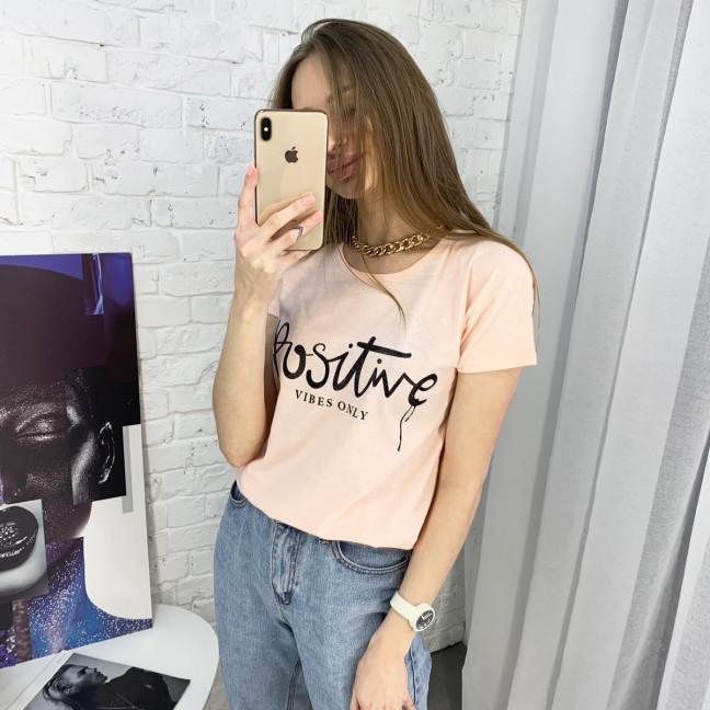 2400-2 розовая футболка женская с принтом (3 ед. размеры: S.M.L) Футболка: артикул 1122348