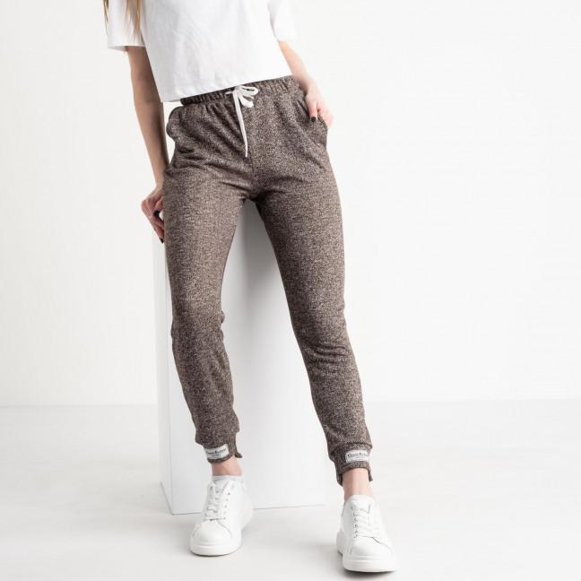 1420-2 коричневые спортивные штаны женские из двунитки (4 ед. размеры: S.M.L.XL) Спортивные штаны: артикул 1119073