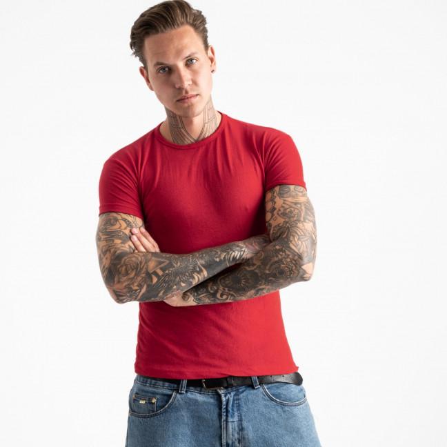 2600-3 красная футболка мужская (4 ед. размеры: M.L.XL.2XL) Футболка: артикул 1120884