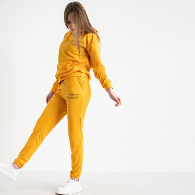 15225-51 желтый женский спортивный костюм из двунитки (3 ед. размеры: M.L.XL) Спортивный костюм: артикул 1120463