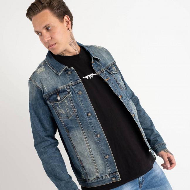 1002 Fang джинсовая куртка темно-синяя стрейчевая (5 ед. размеры: L.XL.2XL.3XL.4XL) Fang: артикул 1118359