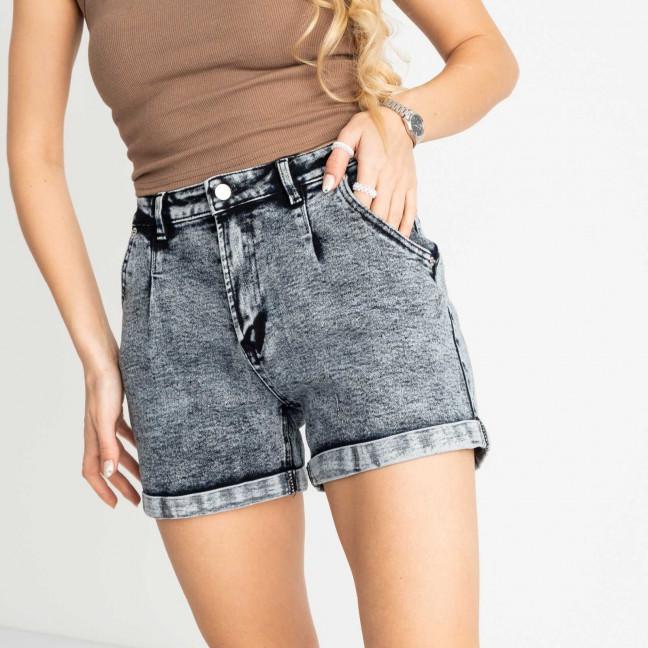 0016-8 М Relucky шорты полубатальные женские серые стрейчевые (6 ед. размеры: 28.29.30.31.32.33) Relucky: артикул 1120057