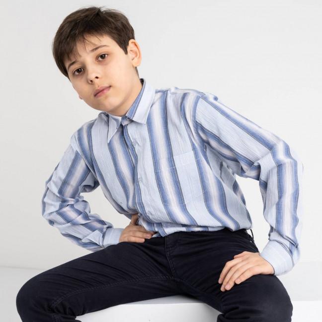 1901 Boston Public голубая рубашка в полоску на мальчика 7-15 лет (5 ед. размеры: 30/31.32/33.33/34.34/35.35/36) Boston Public: артикул 1118408