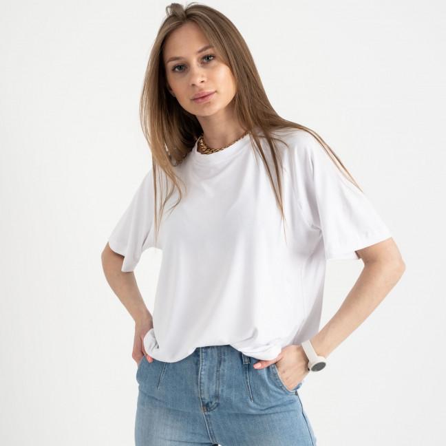 14440-2 Mishely белая футболка женская в стиле oversize (4 ед. размеры: S.M.L.XL) Mishely: артикул 1122109