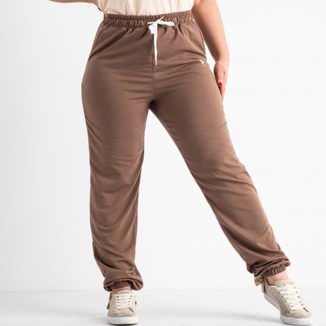14870-3 мокко брюки женские спортивные батальные стрейчевые (4 ед. размеры: 50.52.54.56) Брюки: артикул 1117772