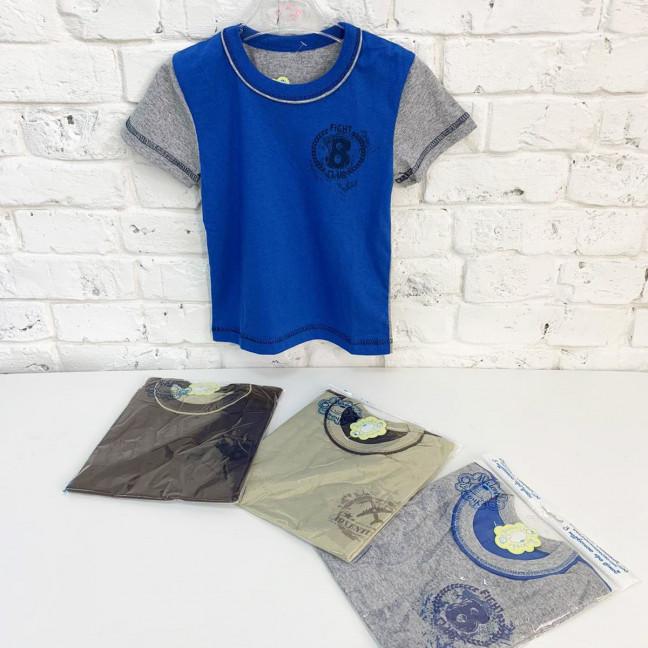 0186-11 футболка микс 4-х цветов на мальчика 3-5 лет (4 ед. размеры: 98.104.110/2) Маленьке сонечко: артикул 1121795