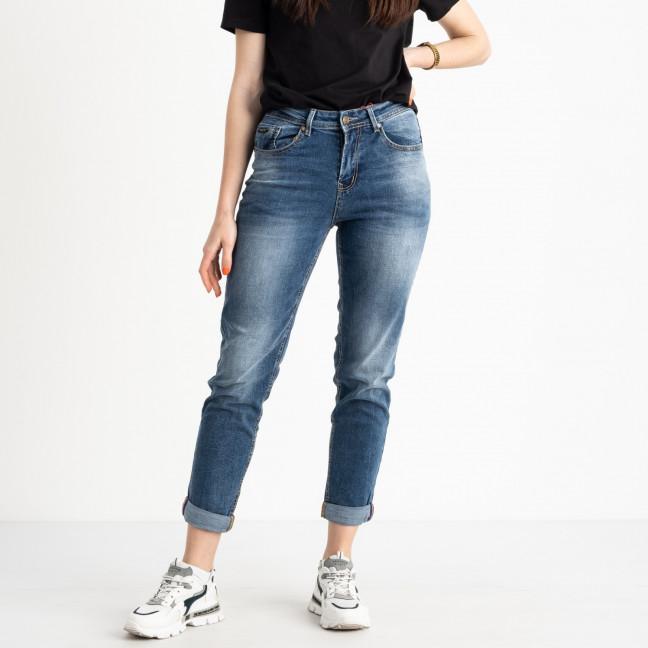 0107-7 В Relucky джинсы полубатальные женские синие стрейчевые (6 ед. размеры: 28.29.30.31.32.33) Relucky: артикул 1120689
