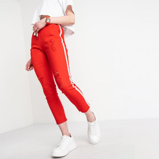 0205-7 Yimeite красные брюки женские стрейчевые (6 ед. размеры: 25.26.27.28.29.30) Yimeite: артикул 1119607