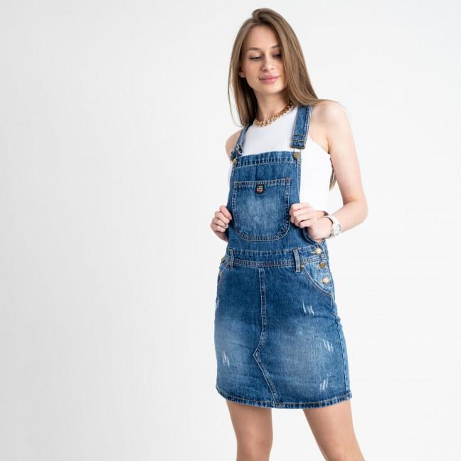 0335-1 Relucky сарафан джинсовый голубой котоновый (6 ед. размеры: 25.26.27.28.29.30)  Relucky: артикул 1121952