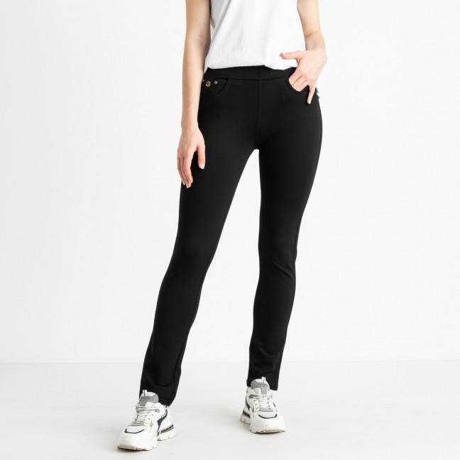 0733 Lady N брюки полубатальные черные стрейчевые пояс на резинке (6 ед. размеры: 28.29.30.31.32.33) Lady N: артикул 1121468
