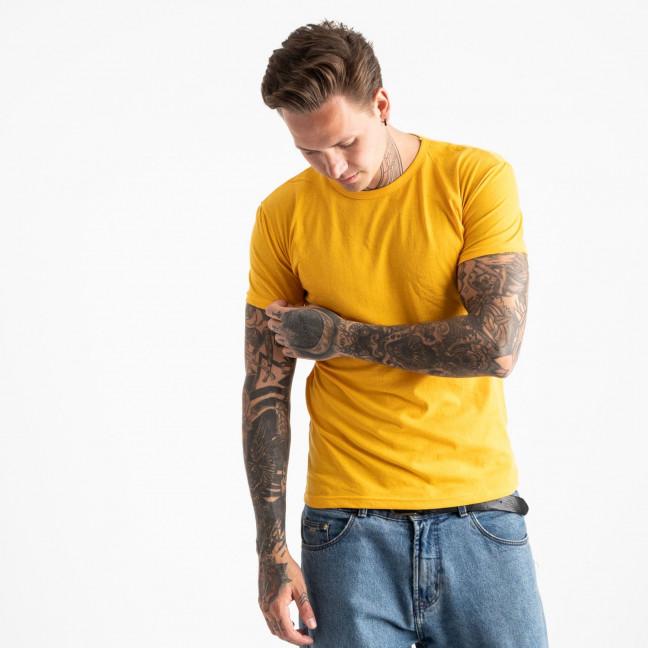 2600-66 желтая футболка мужская (4 ед. размеры: M.L.XL.2XL) Футболка: артикул 1120879