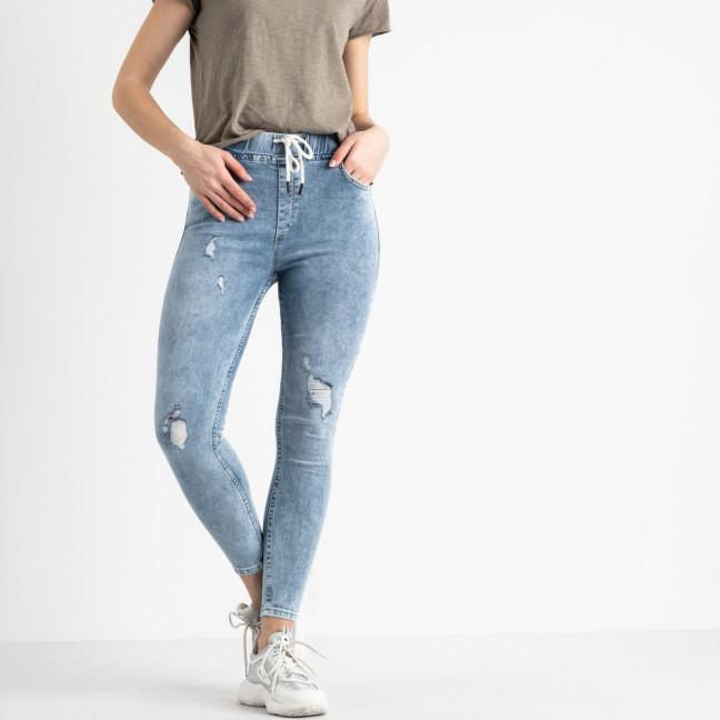 0606 Ondi джинсы женские на завязке с рванкой стрейчевые (6 ед. размеры: XS.S.S.M.M.L) Ondi: артикул 1116303