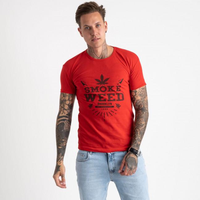 2613-3 красная футболка мужская с принтом (4 ед. размеры: M.L.XL.2XL) Футболка: артикул 1121000