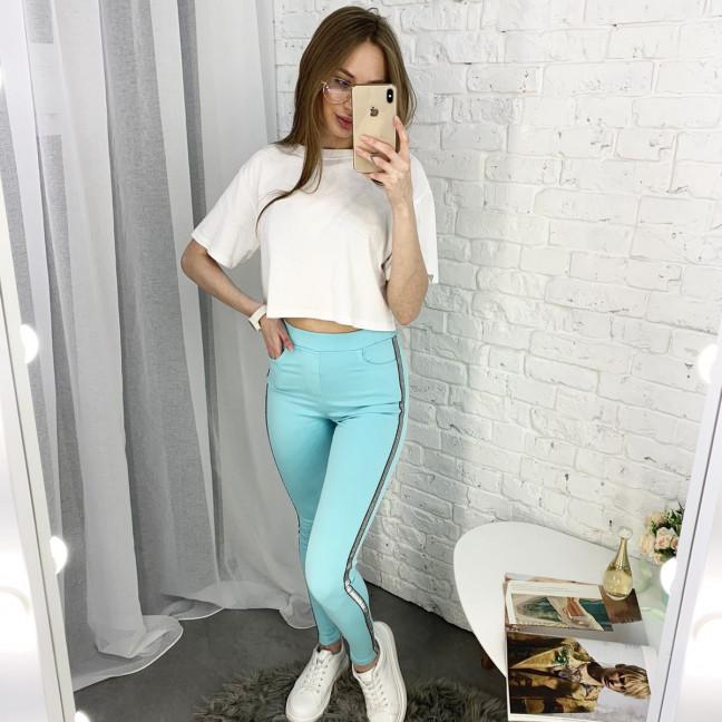 8057-9 Yimeite бирюзовые брюки женские стрейчевые (6 ед. размеры: 25/2.26.27.28.29) Yimeite: артикул 1121568