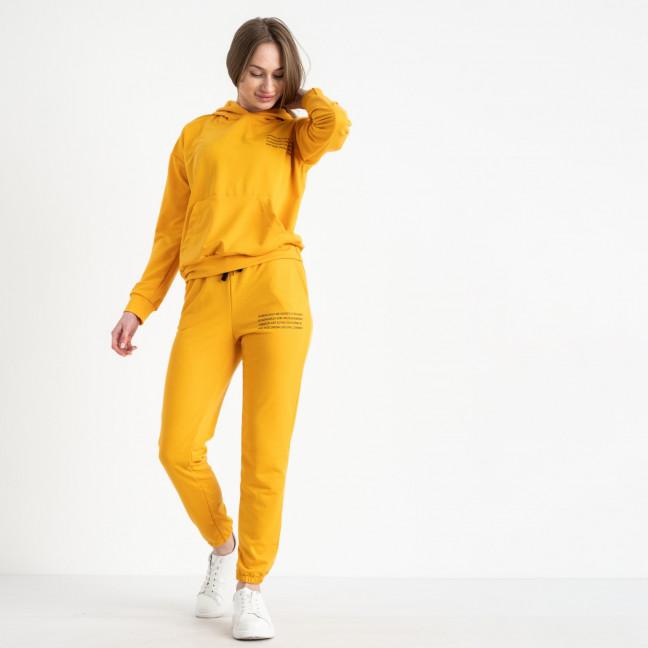 15225-5 желтый женский спортивный костюм из двунитки (4 ед. размеры: S.M.L.XL) Спортивный костюм: артикул 1119949