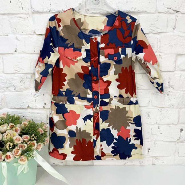 0417 платье цветное на девочку 5-7 лет (3 ед. размеры: 110.116.122) Маленьке сонечко: артикул 1122115