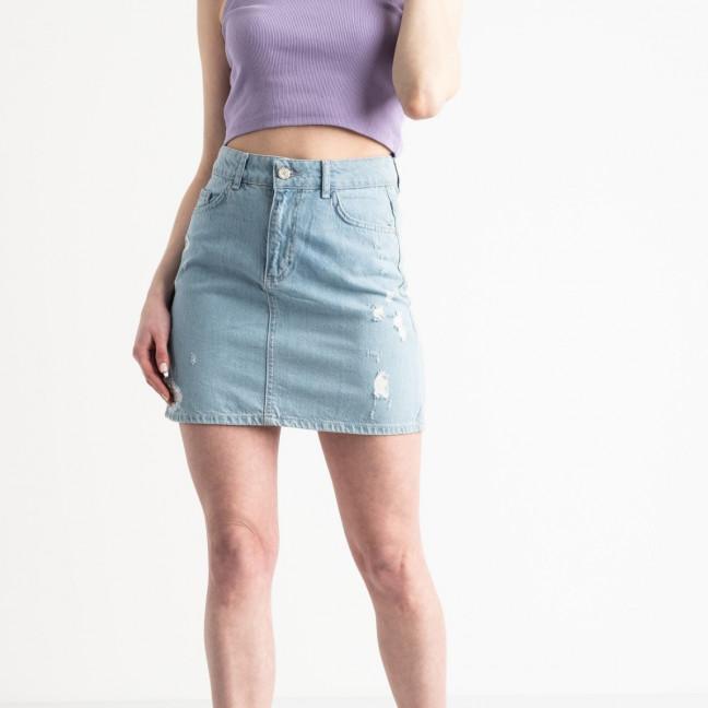 0032-1284 Lovest юбка джинсовая голубая котоновая (4 ед. размеры: 34.38.40.42) Lovest: артикул 1119969