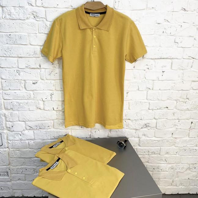2690-5 желтая рубашка поло мужская (4 ед. размеры: M.L.XL.XXL) Футболка: артикул 1122528