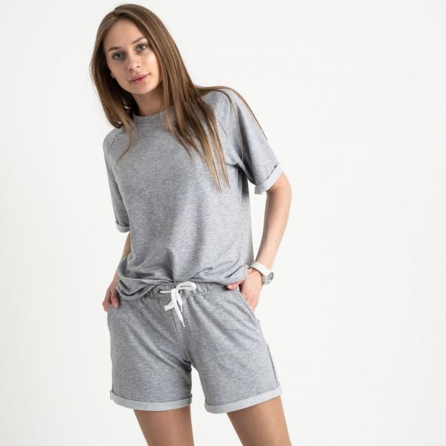 1445-6 Mishely серый женский спортивный костюм с шортами (4 ед. размеры: S.M.L.XL) Mishely: артикул 1121750