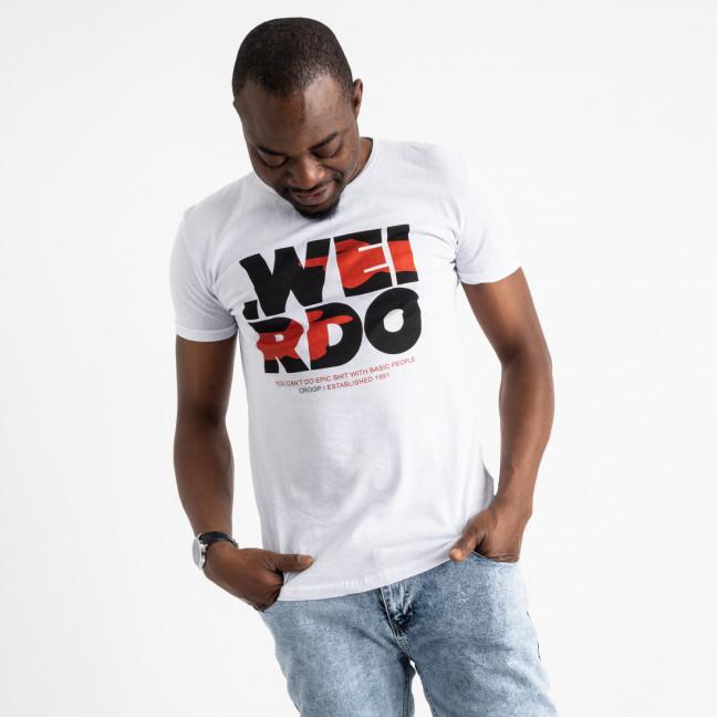 2708-10 белая футболка батальная мужская с принтом (4 ед. размеры: XL.2XL.3XL.4XL) Футболка: артикул 1119644