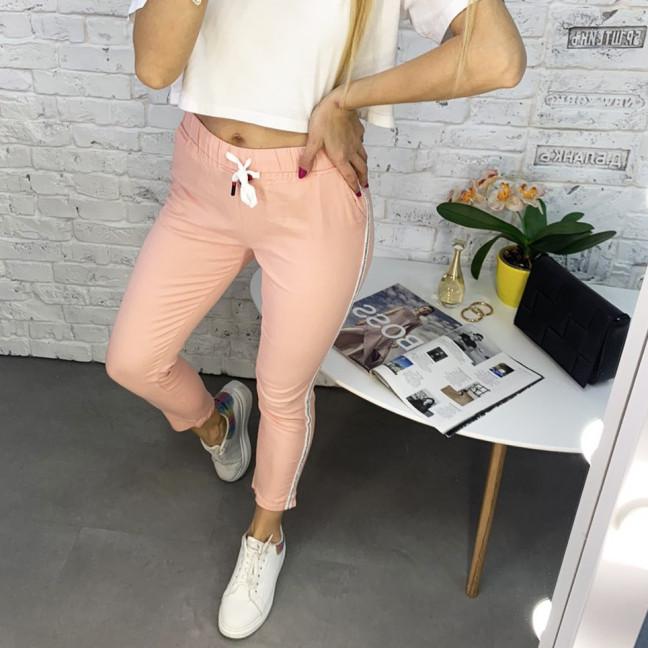 0218-3 Yimeite пудра брюки полубатальные женские стрейчевые (6 ед. размеры: 28.29.30.31.32.33) Yimeite: артикул 1120761