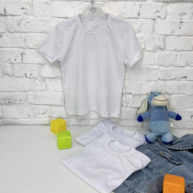 70207-1 футболка детская белая на ребенка от 1 до 8 лет (6 ед. размеры: 80/2.122/2.128/2) Маленьке сонечко: артикул 1122585