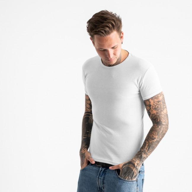 2600-10 белая футболка мужская однотонная (4 ед. размеры: M.L.XL.2XL) Футболка: артикул 1120875
