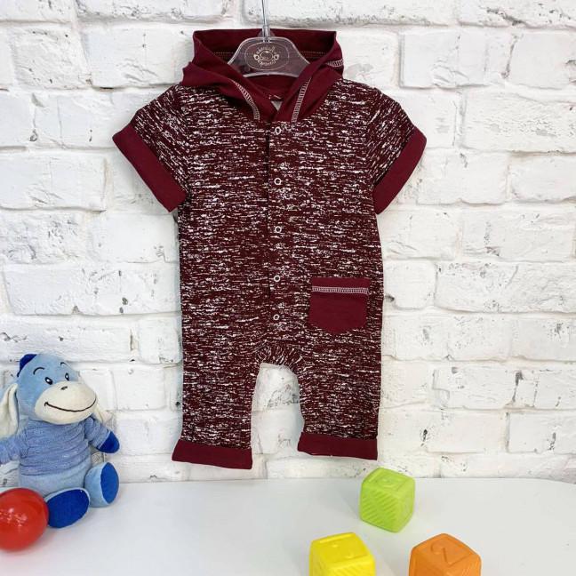 0402-9 красный комбинезон на мальчика 3-9 месяцев (3 ед. размеры: 62.68.74) Маленьке сонечко: артикул 1121823