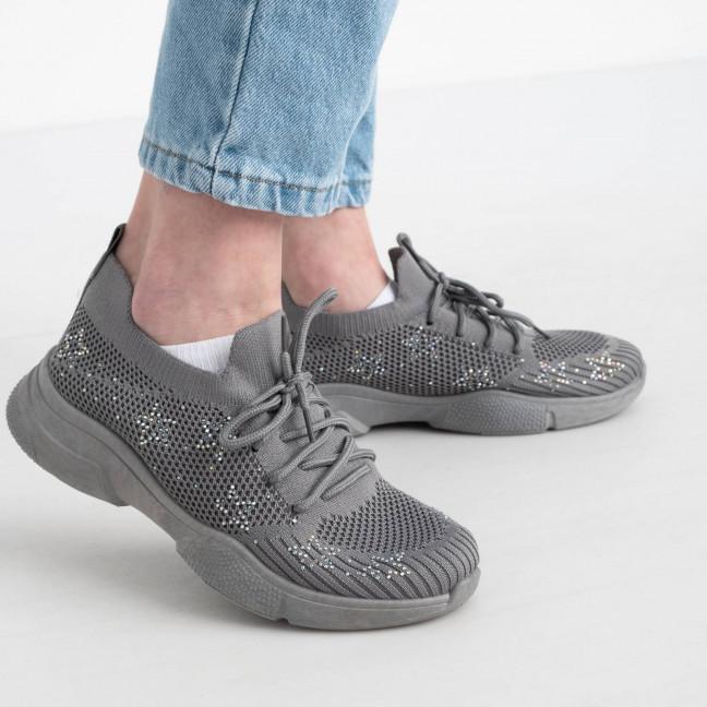 0019 AB кроссовки серые женские( 8 ед. размер: 37.38/2.39/2.40/2.41) Кроссовки: артикул 1121995