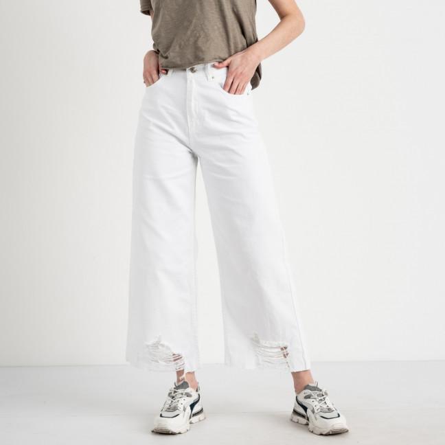 1049 мом джинсовый белый женский котоновый (8 ед. размеры:25/2.26/2.28/2.30.32) Джинсы: артикул 1122321