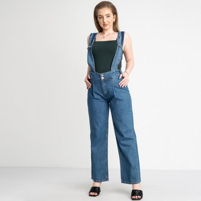 06109 джинсы-клеш голубые полубатальные котоновые (7 ед. размеры: 27.29.30/2.31.32.33) Джинсы: артикул 1122061