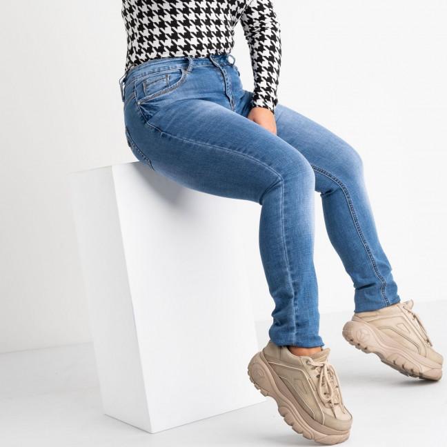 8353 Vanver джинсы женские полубатальные голубые стрейчевые (6 ед. размеры: 28.29.30.31.32.33) Vanver: артикул 1118376