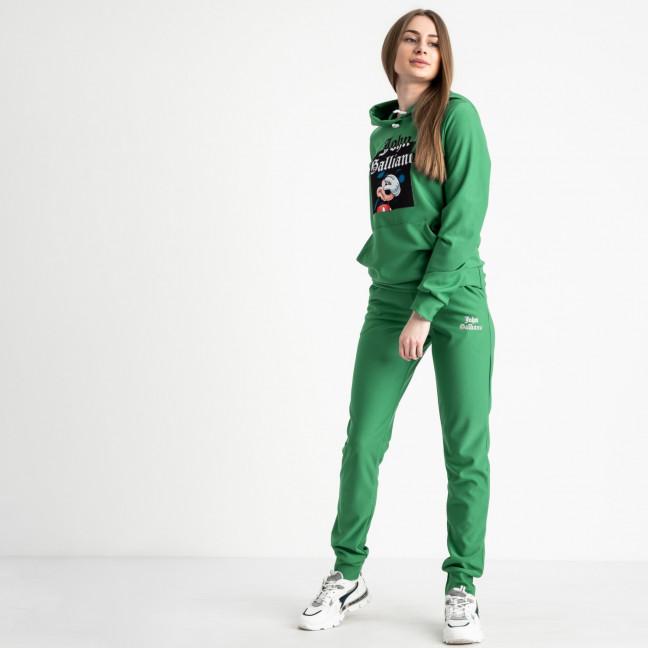 7625-4 зеленый женский спортивный костюм (5 ед. размеры: S.M.L.XL.2XL) Спортивный костюм: артикул 1119921