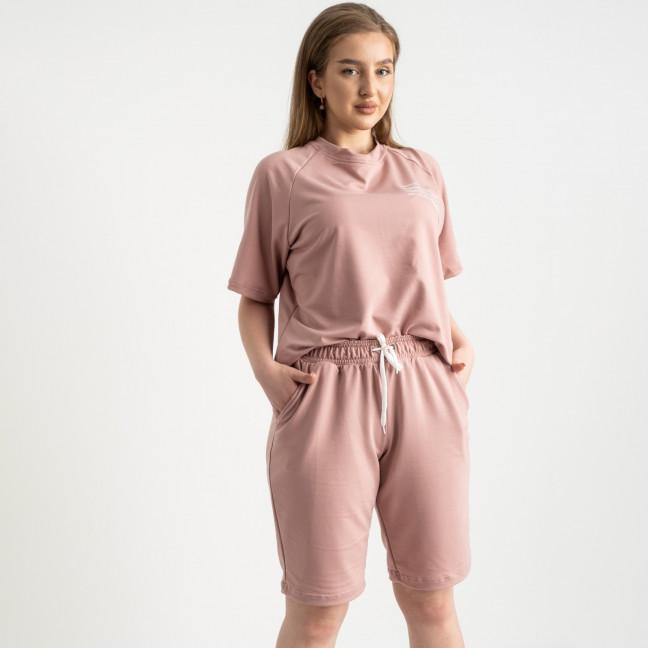 2215-7 Mishely пудровый женский спортивный костюм батальный из двунитки  (4 ед. размеры: 50.52.54.56) Mishely: артикул 1122662