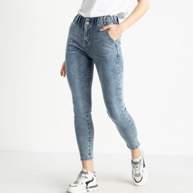 0691 DT New Jeans джинсы полубатальные голубые стрейчевые (6 ед. размеры: 28.29.30.31.32.33) New Jeans: артикул 1121476