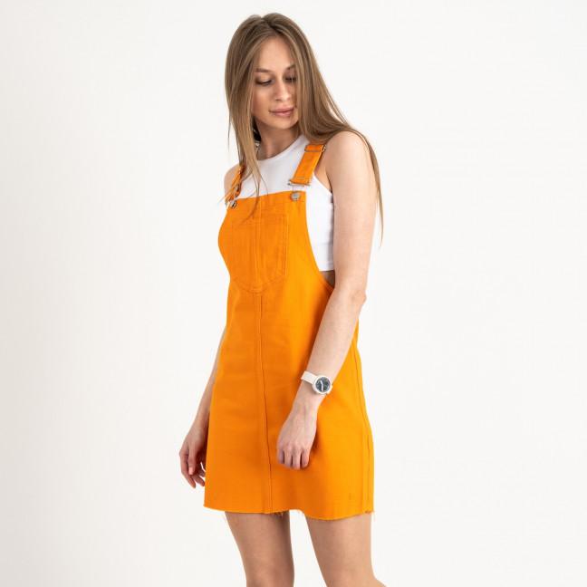 2907-6 Defile сарафан джинсовый оранжевый котоновый  (6 ед. размеры: 34.36/2.38/2.40) Defile: артикул 1122047