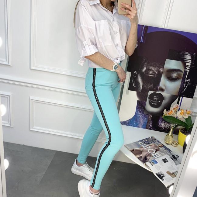 8059-12 Yimeite бирюзовые брюки женские стрейчевые (6 ед. размеры: 25/2.26.27.28.29) Yimeite: артикул 1120746