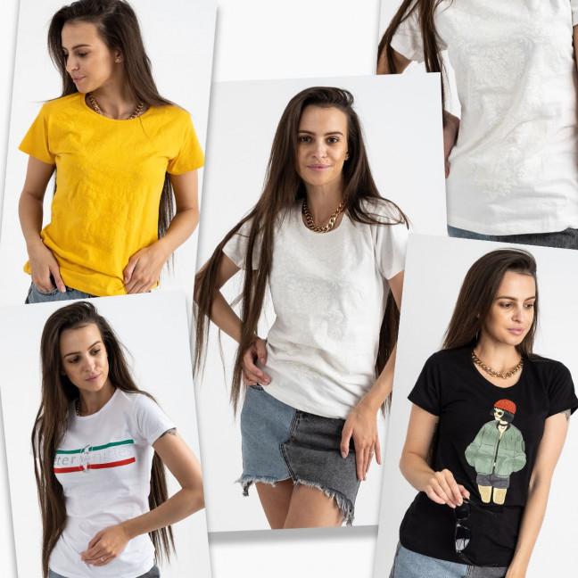 2702-99 футболка женская микс 5-ти моделей и цветов без выбора цветов (20 ед. размеры:S.M.L.XL) МИКС: артикул 1122946