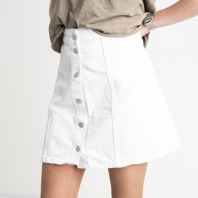 2002-1 юбка на пуговицах белая котоновая (7 ед. размеры: 24.24.26.26.28.30.30) Юбка: артикул 1119907