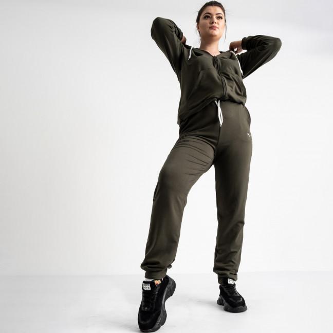15111-5 Mishely хаки женский спортивный костюм батальный из двунитки (4 ед. размеры: 50.52.54.56) Mishely: артикул 1118243