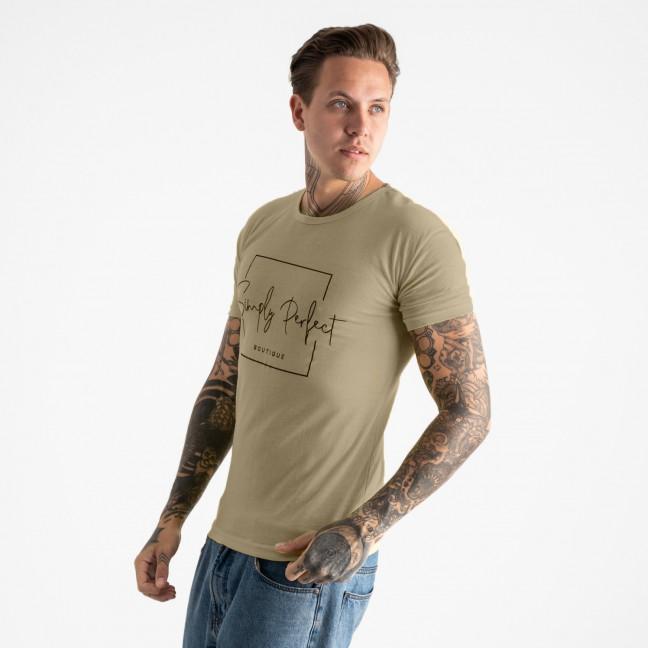 2603-11 хаки футболка мужская с принтом (4 ед. размеры: M.L.XL.2XL) Футболка: артикул 1120907