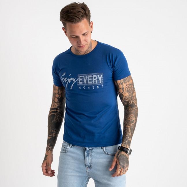 2616-12 синяя футболка мужская с принтом (4 ед. размеры: M.L.XL.2XL) Футболка: артикул 1121022