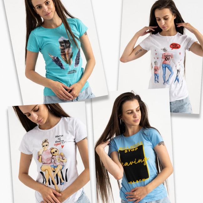 3701-99 футболка женская микс 4-х моделей и цветов без выбора цветов (20 ед. размеры: универсал 42-44) МИКС: артикул 1122953
