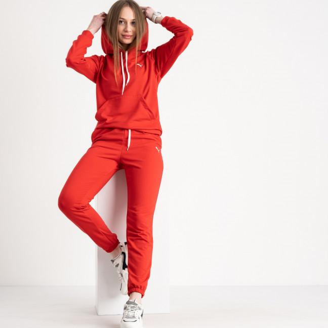 1467-21 красный женский спортивный костюм из двунитки (4 ед. размеры: S.M.L.XL) Спортивный костюм: артикул 1120158