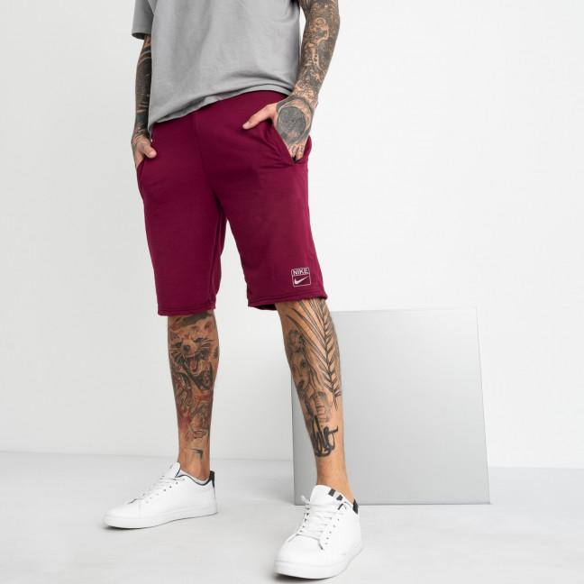 1106-3 бордовые спортивные шорты мужские (5 ед. размеры: 46.48.50.52.54) Шорты: артикул 1120421