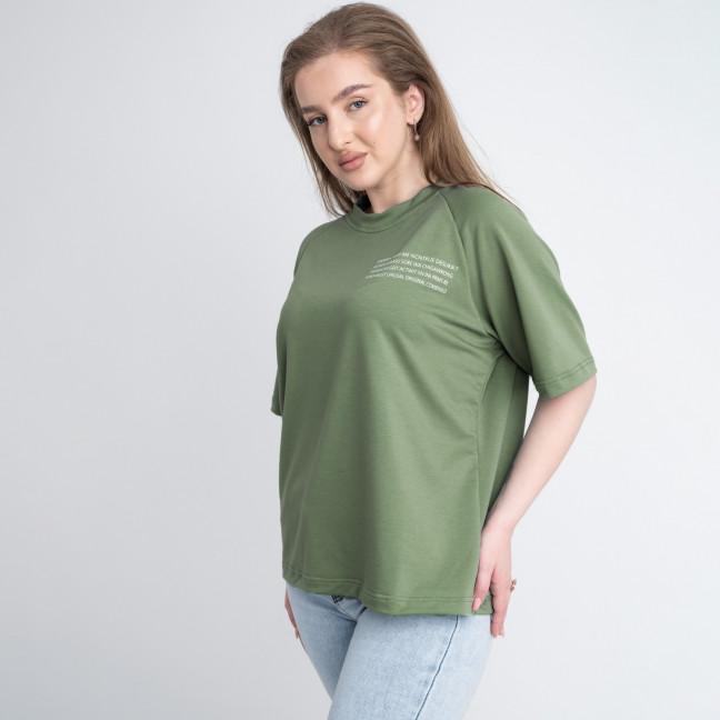 2220-3 Mishely футболка хаки женская батальная из двунитки ( 4 ед. размеры: 50.52.54.56) Mishely: артикул 1122667